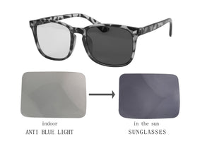Photochromic Blue Light Blocking Progressive Multifocus Reading Glasses Anti Glare Transition Sunglasses SHINU-8068