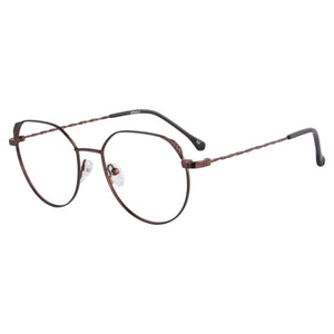 Metal Frames Clean Lens Anti Blue Light Myopia Glasses- 372
