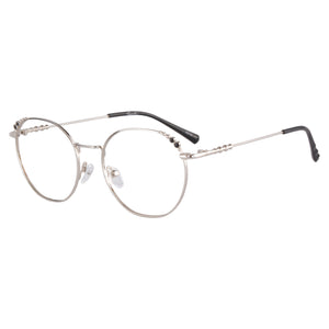 Round Frame Anti-Blue Light Progressive Multifocus Reading Glasses- 6088