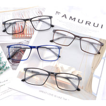 Load image into Gallery viewer, Titanium Frames Clean Lens Anti Blue Light Progressive Multifocus Reading Glasses- 6145
