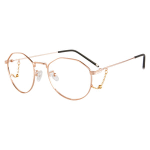Round Frame Anti-Blue Light Progressive Multifocus Reading Glasses- 6839