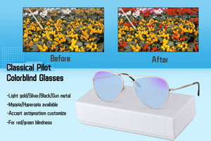 Men Glasses for Red Color Blind Green Color Vision Blindness Eyeglasses Outdoor Sunglasses SHINU-SH72002
