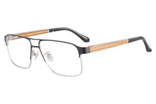 Load image into Gallery viewer, Wooden Frame Clean Lens Blue Light Blocking Computer Glasses- 8001