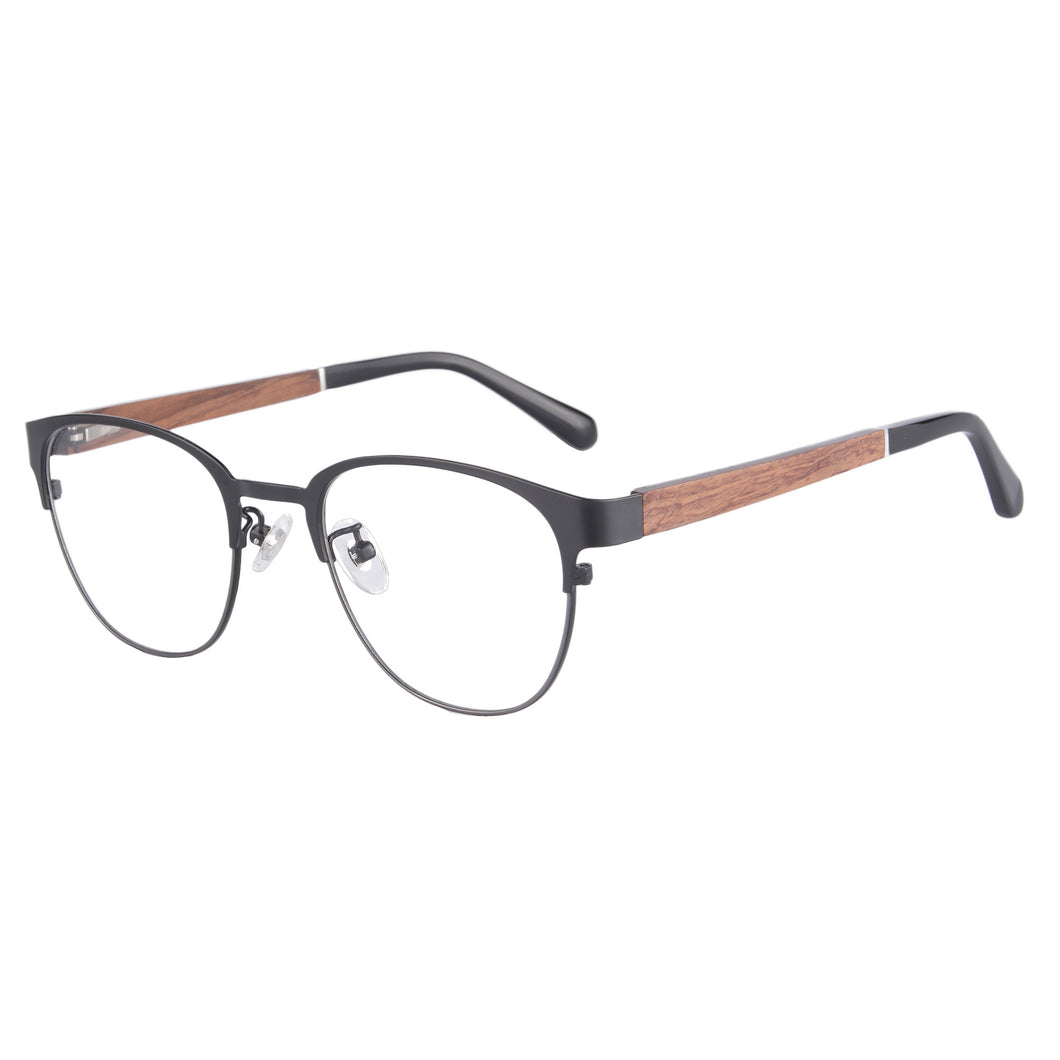Wooden Frame Clean Lens Blue Light Blocking Computer Glasses- 8008