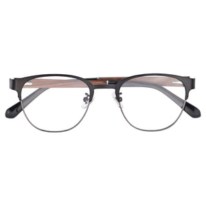 Wooden Frames Clean Lens Anti Blue Light Myopia Glasses- 8008