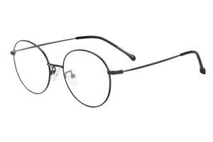 Round Frames Clean Lens Anti Blue Light Myopia Glasses- 80136