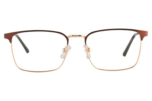 Metal Frames Clean Lens Anti Blue Light Myopia Glasses- 9004