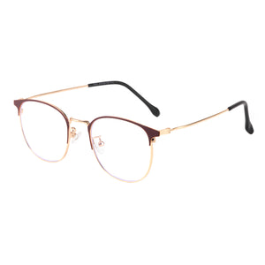 Round Metal Frames Clean Lens Anti Blue Light Progressive Multifocus Reading Glasses-9203
