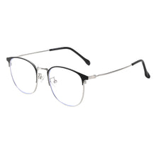 Load image into Gallery viewer, Round Metal Frames Clean Lens Anti Blue Light Myopia Glasses- 9203