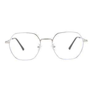 Round Metal Frames Clean Lens Anti Blue Light Reading Glasses- 9217