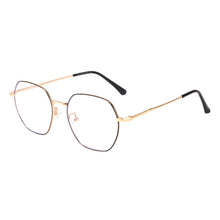 Load image into Gallery viewer, Round Metal Frames Clean Lens Anti Blue Light Myopia Glasses- 9217