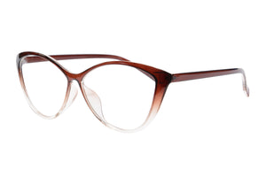 Ladies Cateye Frames Clean Lens Anti Blue Light Reading Glasses- 5865