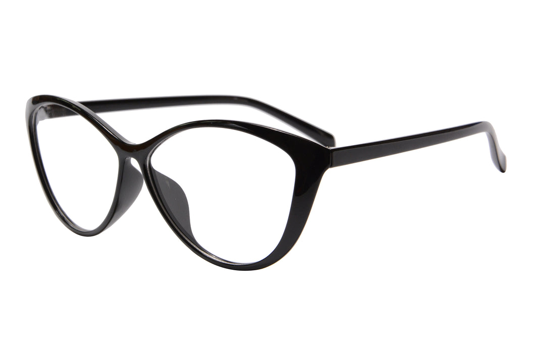 Ladies Cateye  Frames Clean Lens Blue Light Blocking Computer Glasses-5865