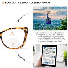 Load image into Gallery viewer, Photochromic Bifocal Glasses Anti-fatigue Women Transition Grey Sunglasses SHINU-SH017