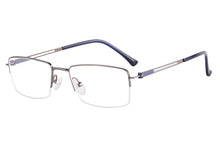 Load image into Gallery viewer, Metal Half Frames Clean Lens Anti Blue Light Reading Glasses- DC5074