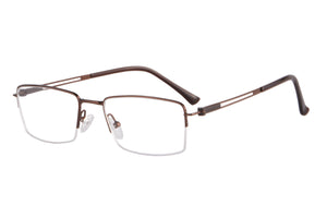 Metal Half Frames Clean Lens Anti Blue Light Reading Glasses- DC5074