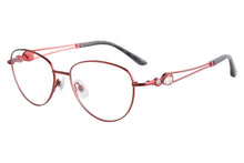 Load image into Gallery viewer, Women Titanium Frames Clean Lens Anti Blue Light Myopia Glasses- FA970