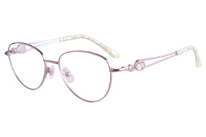Women Titanium Frames Clean Lens Blue Light Blocking Computer Glasses- FA970