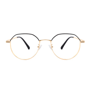 Round Metal Frames Clean Lens Anti Blue Light Progressive Multifocus Reading Glasses-H90305