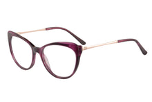 Load image into Gallery viewer, Women Acetate Frames Clean Lens Anti Blue Light Myopia Glasses- RD395