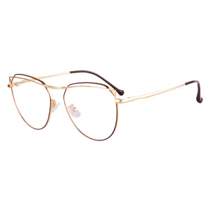 Metal Frame Anti-Blue Light Progressive Multifocus Reading Glasses- S111015