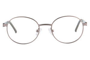 Child's Round Frames Clean Lens Anti Blue Light Myopia Glasses- SS1091