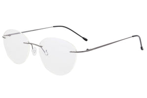 Titanium Rimless Frame Women Blue Light Blocking Anti Blue Light Glasses for Reading SHINU-T1022
