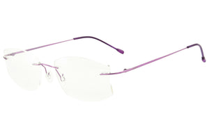 Women's Titanium Rimless Frame Anti Blue Light Glasses for Reading SHINU-T1023