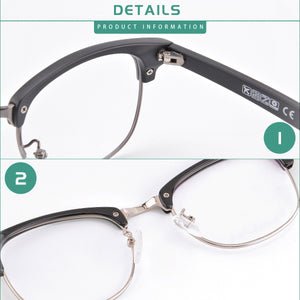 Women's Anti Blue Light Photochromic Reading Glasses with Change Grey Lens Transition Sunglasses-T6319