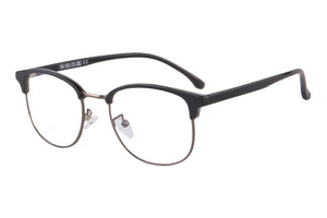 Men's Half Frames Clean Lens Blue Light Blocking Computer Glasses-T6595