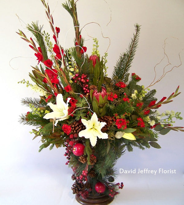 Christmas flowers by David Jeffrey Florist