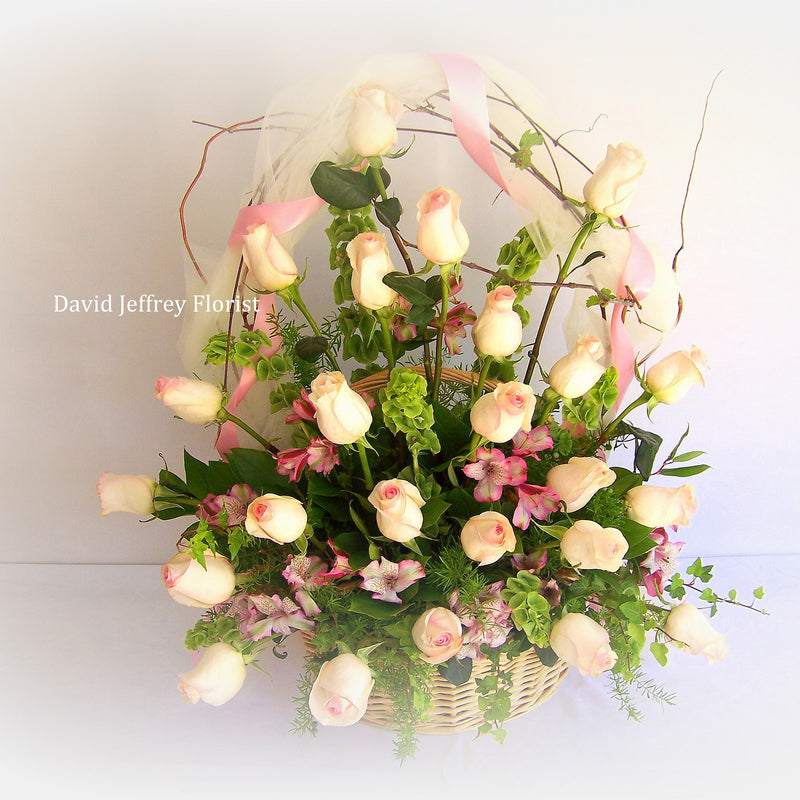 David Jeffrey's Baby Rose Basket