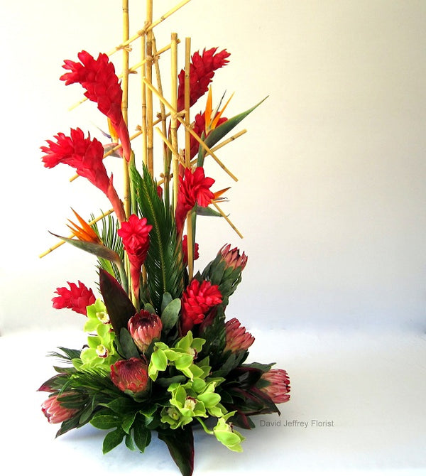 Tropical Flowers by David Jeffrey Florist