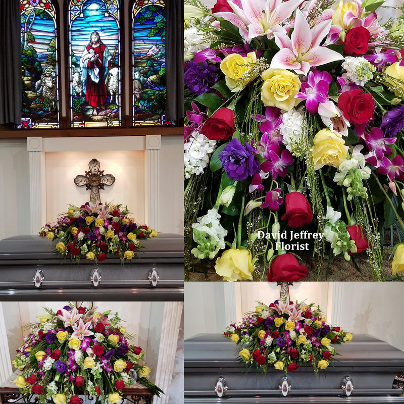 Casket Spray  Colorful Petals