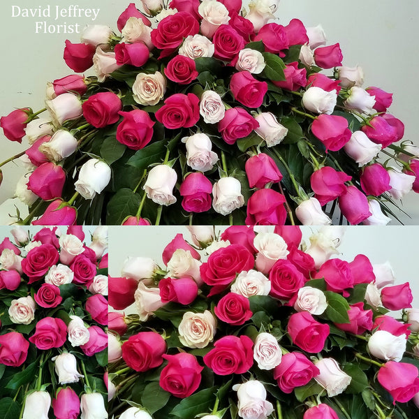 Casket Spray Shades Of Pink Roses