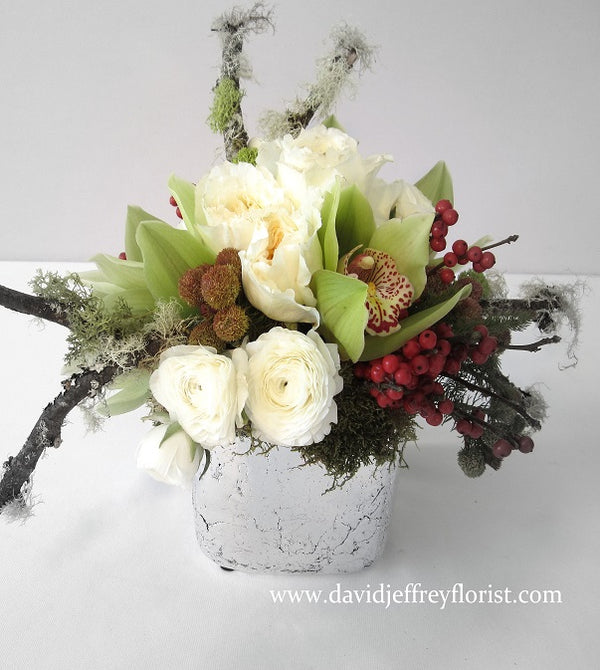 Contemporary Rustic Flowers by David Jeffrey Florist