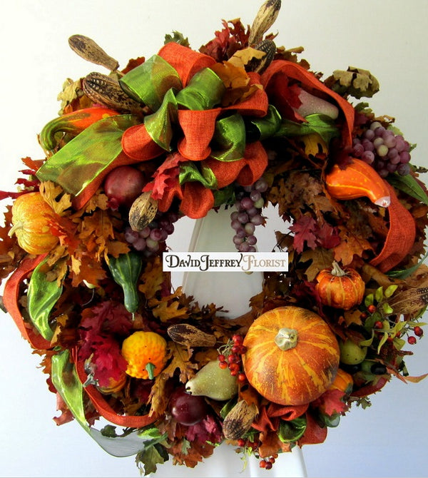 Fall Wreath - Autumn Leaves