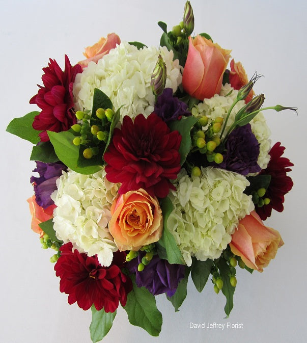 Flower Cube Bouquets- Cherry Brandy