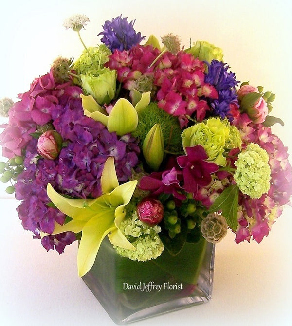 Flower Cube Bouquets by David Jeffrey Florist