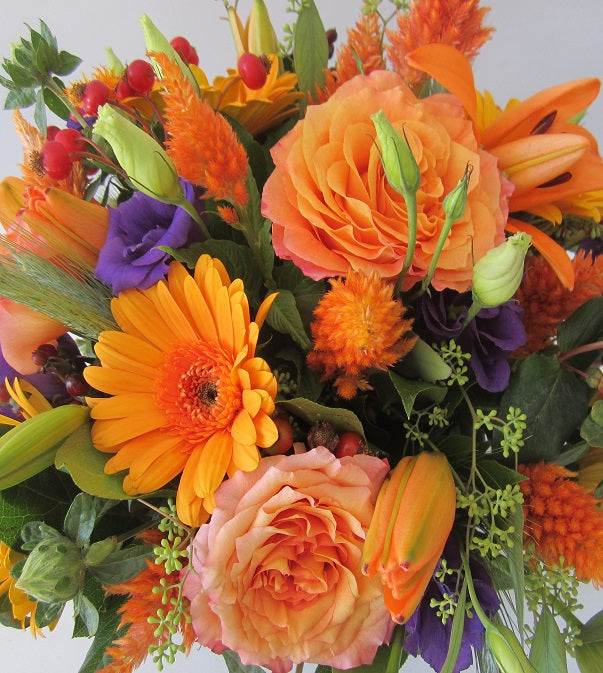 Flower Cube Bouquets- Orange