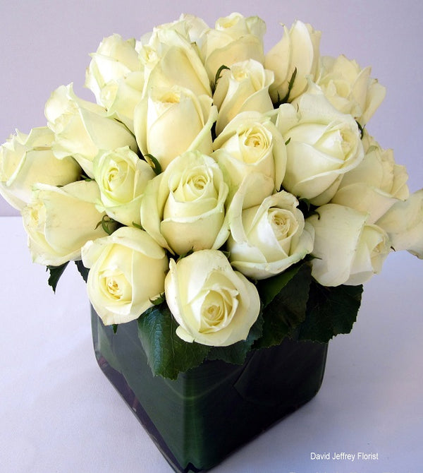 White Rose Bouquets by David Jeffrey Florist