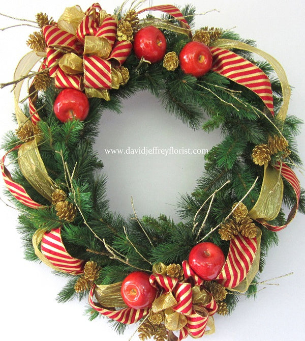Wreath - Candy Stripe
