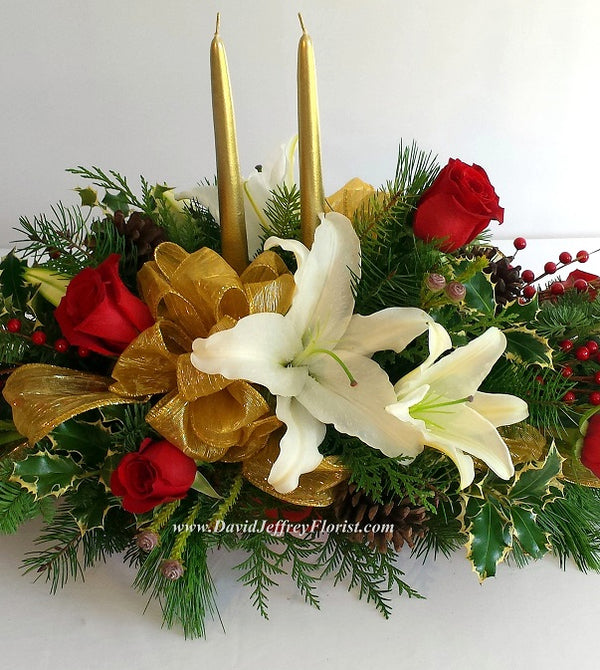 Christmas Bouquet Centerpiece
