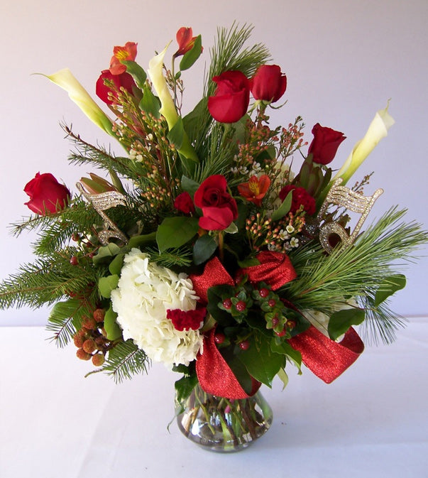 Flowers for Christmas by David Jeffrey Florist
