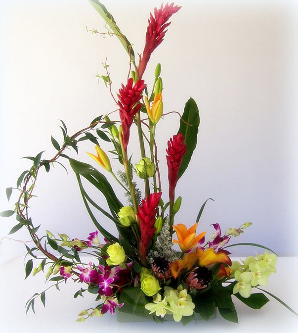 Colorful designs by David Jeffrey Florist in Thousand Oaks