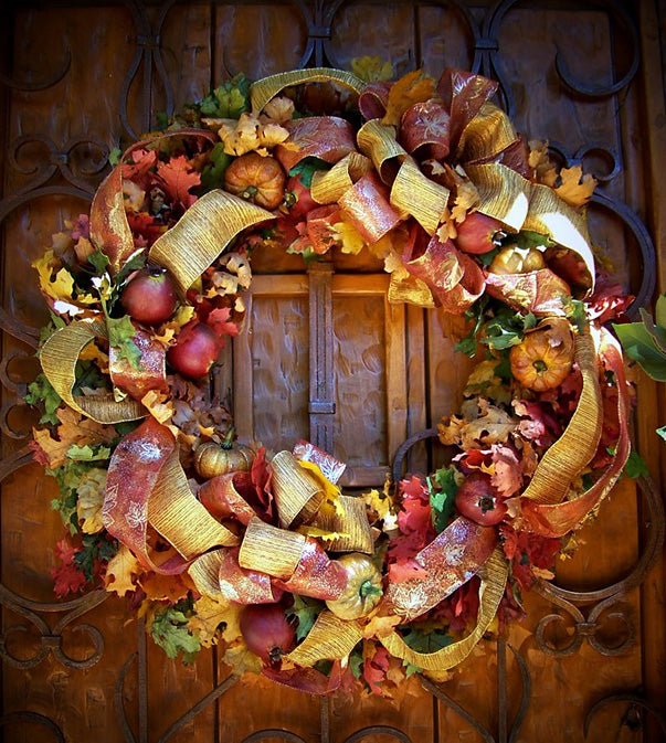 David Jeffrey's Golden Fall Wreath