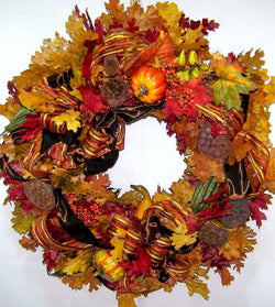 David Jeffrey's Fall Harvest Wreath