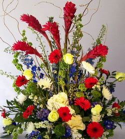 Floral Patriot Flowers by David Jeffrey Florist
