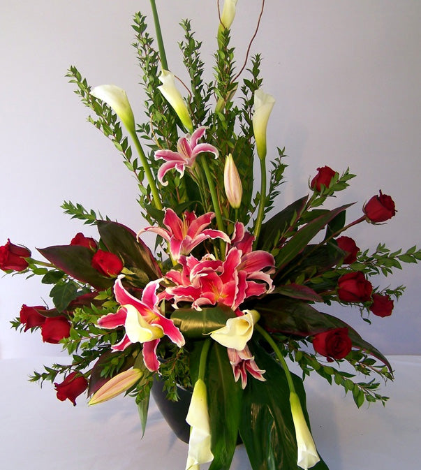 Stylized Tribute Flowers by David Jeffrey Florist