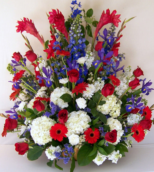 Red, White & Blue Tribute Flowers by David Jeffrey Florist